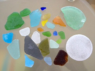Sampling of some sea glass we have found