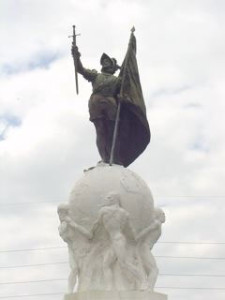 Statue of Balboa on Avenida Balboa in Panama City