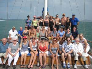 Whale watching group