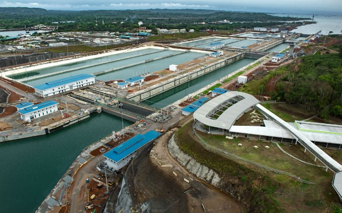 Aerial of Agua Clara Locks 2