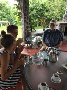 Coffee tasting at the coffee farm
