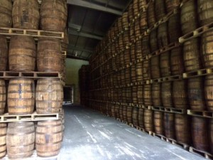 Aging warehouse at Ron Abuelo with 8000 barrels